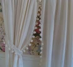 Curtains With Pom Poms Decor Gorgeous White Curtains With Pom Poms Decorating With Batik Pom