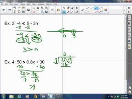 algebra i 2 4 solving two step and multi step inequalities youtube