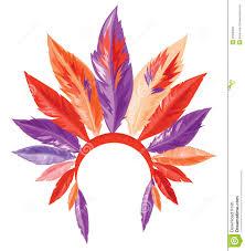 aboriginal clipart native american headdress pencil and in color