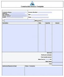 contractor invoices construction invoice template construction invoice template 5