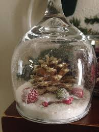 wine glass snow globes diy wine glass snow globes anika burke
