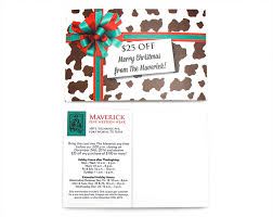holiday coupon maverick holiday coupon direct mail kristin sloane portfolio