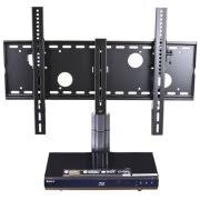 Tv Wall Mounts With Shelves Atlantic 2 Tier Av Component Shelf With Drawer Walmart Com