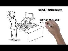 videos of ergonomic laptop standing desk adjustable laptop stand