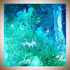 turquoise blue paint rain forest by qiqigallery 30