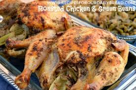 roasted whole chicken to roast one dish whole chicken with green beans