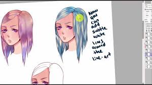 hair coloring tutorial 3 different ways to color paint tool sai