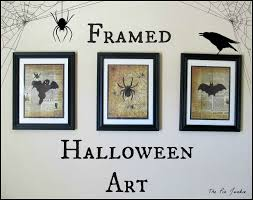 halloween picture frame crafts the pin junkie spooky creatures framed halloween art
