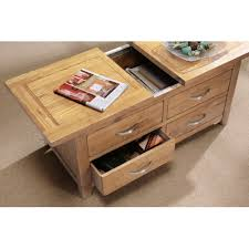 sliding top coffee table storage coffee table with sliding top and drawers