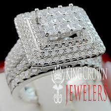 big ladies rings images 2 piece bridal wedding ring band set big bold white gold sterling jpg