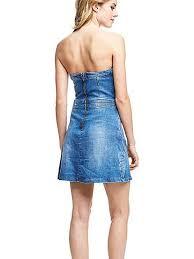 strapless jeans dress guess eu
