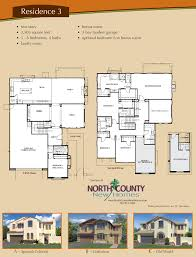 Floor Plans In Spanish by Altaire Floor Plan 3 New Homes For Sale In San Elijo Hills