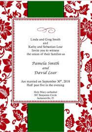christmas wedding invitations how to select your christmas wedding invitation card key to