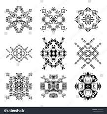 vector set tribal black white decorative stock vector 340353002