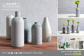 Vase Made From Plastic Bottle Ep27 Concrete Vases U2039 Homemade Modern