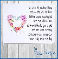 wedding wishes poem honeymoon money poems cards invitations ebay