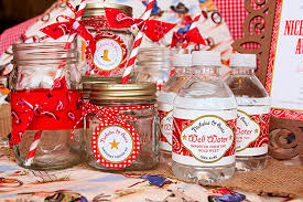 cowboy baby shower ideas cowboy baby shower decoration ideas water bottles betsy manning