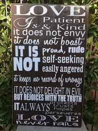 Home Decor Wooden Signs Love Is Patient 1 Corinthians 13 4 Wood Sign 12 X