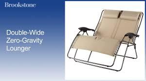 Bliss Zero Gravity Lounge Chair Double Wide Zero Gravity Lounger Youtube