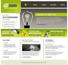 lighting the web coupon lighting electricity website template 10345