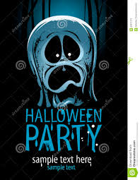 halloween party design with ghost stock vector image 58811370