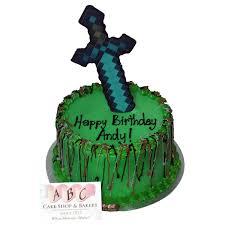 mine craft cakes 2102 minecraft sword cake abc cake shop bakery