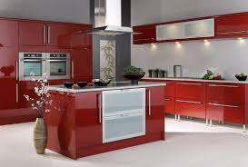 Red Mahogany Kitchen Cabinets Red Kitchens With White Cabinets Square Recessed Bar Lighting Pull