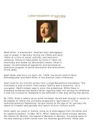 Seeking Adolf A Brief Biography Of Adolf Adolf