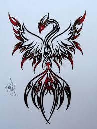 52 black phoenix tattoos collection