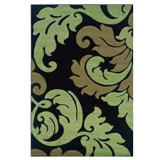 linon home decor rugs linon home decor corfu collection black and lime 8 ft x 10 ft 3 in