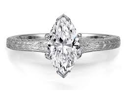 marquise diamond engagement ring engagement ring marquise diamond solitaire wheat engraved