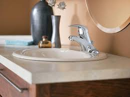 How To Change A Faucet In The Bathroom Installing A New Bathroom Faucet In A New Vanity Top