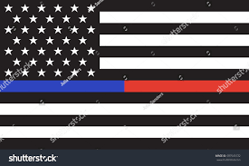 Blue White And Black Flag Vector Thin Blue Line Red Line Stock Vector 587545532 Shutterstock