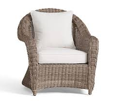 Outdoor Rattan Armchairs Rattan Wicker Chair Pottery Barn