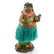 braddah ukulele green skirt dashboard hula doll hula and cars
