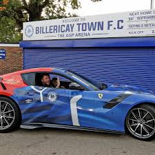purple ferrari f12 billericay town owner glenn tamplin shows of custom 1m ferrari