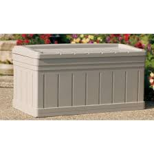Suncast 50 Gallon Patio Bench by Outdoor Deck Box Storage Outdoor Designs