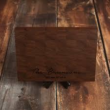 walnut custom end grain cutting board personalized end grain