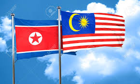 Maylasia Flag North Korea Flag With Malaysia Flag 3d Rendering Stock Photo