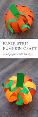 easy paper strip pumpkin craft for kids paper strips free