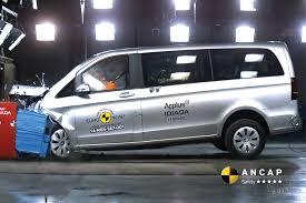 lexus v8 vito ford transit custom mercedes benz vito vans get five star ancap