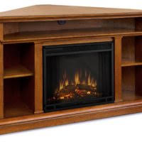 Corner Tv Stands With Electric Fireplace by Furniture Brown Wooden Corner Electric Fireplace Media Console
