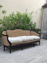 canap style louis xv canapé corbeille de style louis xv tissu marron classique 22975