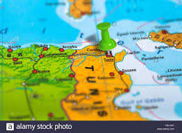 tunisia map tunis tunisia map stock photo royalty free image 125786051 alamy