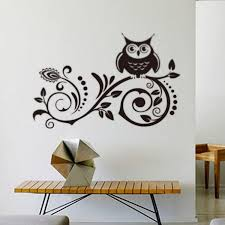 Owl Room Decor Owl Wall Decor Larger Vinyl Wall Stickers Decal Large Black