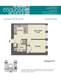 one bedroom floor plans for apartments the apartments at coolidge in watertown ma floor plans