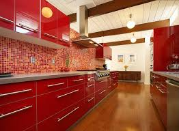 Red Mosaic Tile Backsplash by 27 Red Kitchen Ideas Cabinets U0026 Decor Pictures Designing Idea