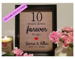 10th year wedding anniversary wedding anniversary gift 10 years 20 years 30 years 40 years