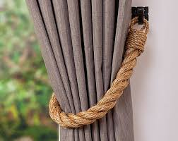 Curtain Rope Tie Backs Manila Rope Tiebacks Andrea Cook Interiors
