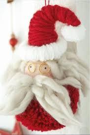 diy ornaments make a pom pom from bulky yarn felt add a